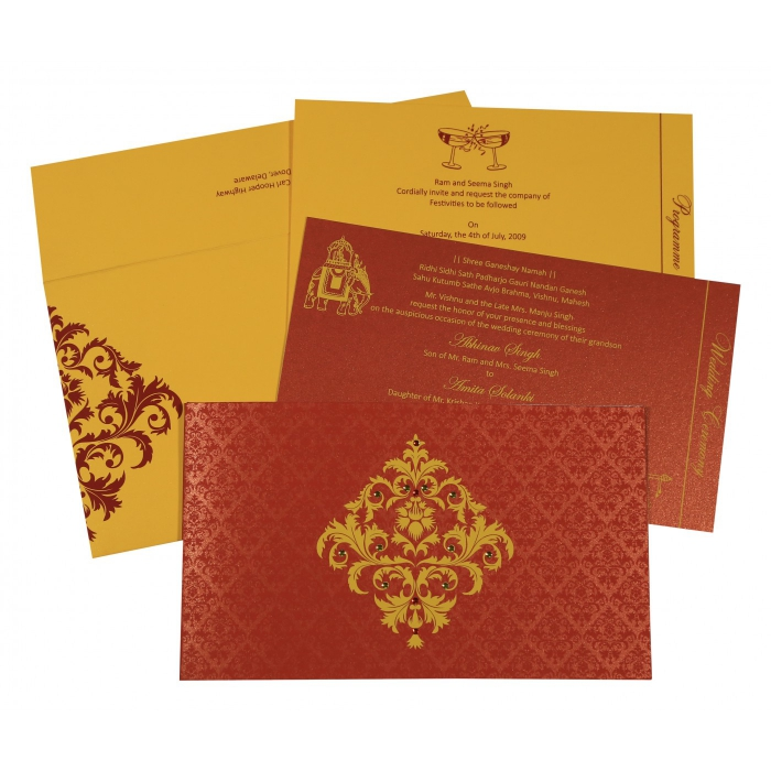 Sikh Wedding Invitation - S-8257D